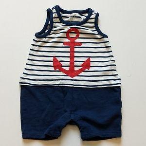 Nautical Summer Onesie * Size 0-3M
